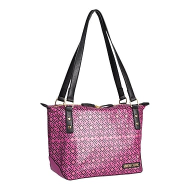 Simon Chang Faux Leather Ladies Satchel Cooler Bag, Fuchsia