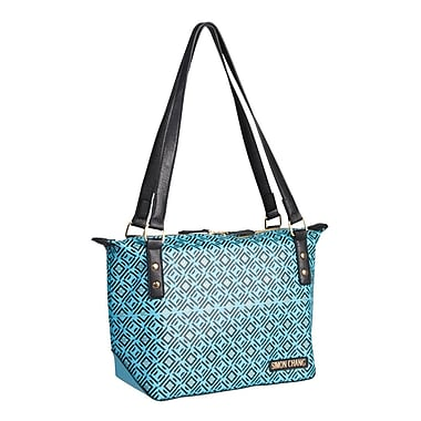 Simon Chang Faux Leather Ladies Satchel Cooler Bag, Turquoise