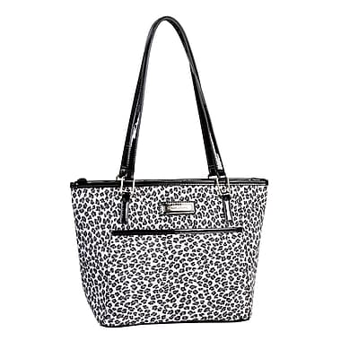 Simon Chang Ladies Polyester Microfiber Leopard Print Cooler Bag , Black