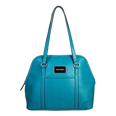 Simon Chang Ladies Faux Leather Dome Satchel Cooler Bag, Teal