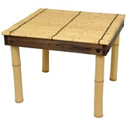 Oriental Furniture Zen Bamboo Coffee Table w/ Four Stools