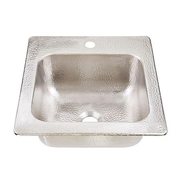 Sinkology 15'' x 15'' Drop-In 1-Hole Bar Prep Sink