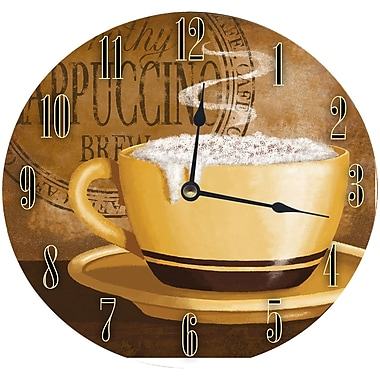 Stupell Industries 12'' Frothy Cappuccino Wall Clock