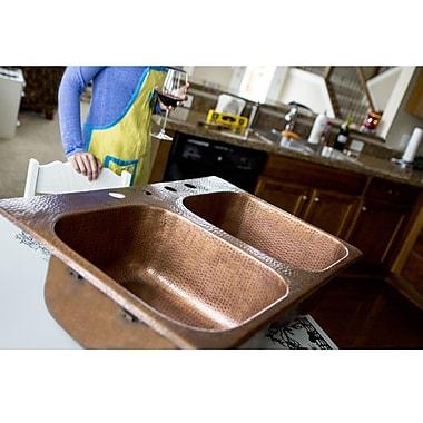 Sinkology 33'' x 22'' Double Bowl Kitchen Sink