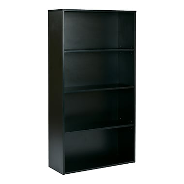 Proline Prado 4 Shelf Bookcase, Black