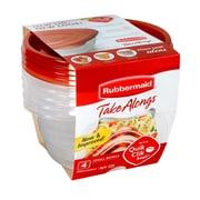 RubbermaidMD – Petits bols Take Alongs pour aliments, rouge, paq./4
