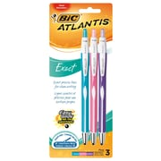 BIC Atlantis Exact Retractable Pens, 3/Pack