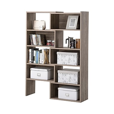 Homestar Flexible & Expandable Shelving Bookshelf, Reclaimed Wood