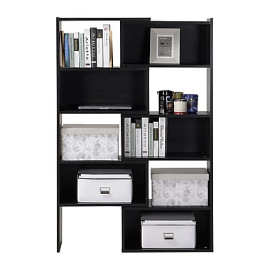 Homestar Flexible & Expandable Shelving Bookshelf, Espresso