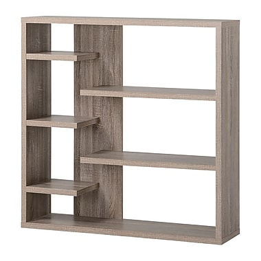 Homestar 6-Shelf Storage Bookcase, Reclaimed Wood