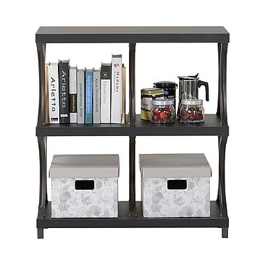 Homestar 3-Shelf/ 4-Compartment Bookcase, Espresso