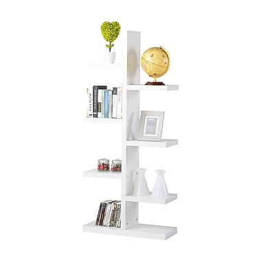 Homestar 7-Shelf Tree Bookcase, White