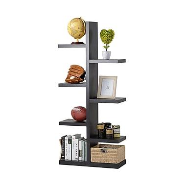 Homestar 7-Shelf Tree Bookcase, Espresso