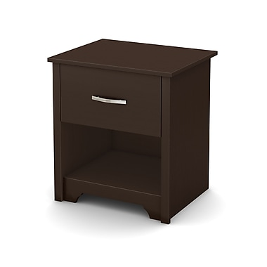 South Shore Fusion Night Stand, Chocolate, 21.25