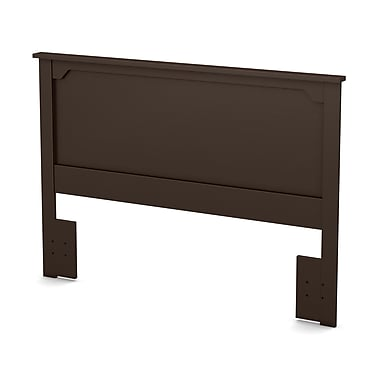 "Tête de lit double/queen, Chocolat, collection Fusion de Meubles South Shore, 65""L x 3""D x 46""H"