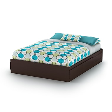 South Shore Fusion Queen Mates Bed (60''), Chocolate