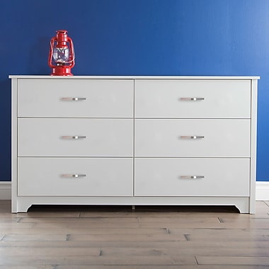 "Bureau, Blanc solide, collection Fusion de Meubles South Shore, 59,25"" (L) x 17"" (D) x 32,5"" (H)"