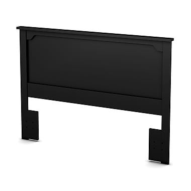 "Tête de lit double/queen (54/60''), Noir, collection Fusion de Meubles South Shore 65""L x 3""D x 46""H"