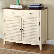 Hokku Designs Soniya 8-Pair Shoe Storage Cabinet; Off-White
