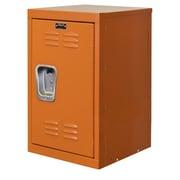 Hallowell 1 Tier 1 Wide Kid Locker; Hoop (orange)
