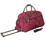 All-Seasons 21'' 2 Wheeled Travel Duffel; Pink