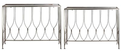 Urban Trends 2 Piece End Table Set; Champagne