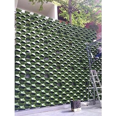 ModularLiving VPlant Plastic Wall Planter (Set of 20); Green