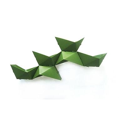 ModularLiving VPlant Plastic Wall Planter (Set of 6); Green