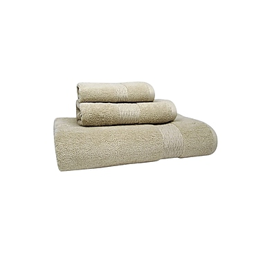 Jessica Simpson Home Signature Bath Towel (Set of 2); Oyster Grey