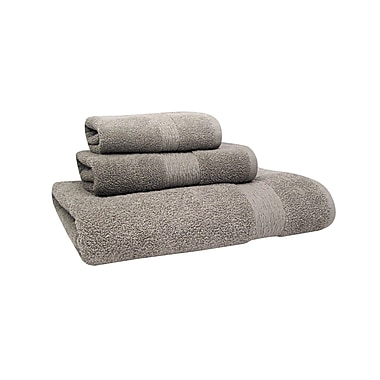 Jessica Simpson Home Signature Bath Towel (Set of 2); Neutral Gray