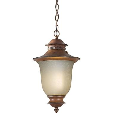 Forte Lighting 1-Light Outdoor Pendant; Rustic Sienna