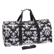 World Traveler Damask ll 22'' Lightweight Duffel; Black / White