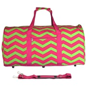 World Traveler Chevron 22'' Lightweight Duffel; Fuchsia / Lime