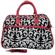 World Traveler Damask 21'' Carry-On Duffel; Pink