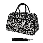 World Traveler Damask 21'' Carry-On Duffel; Black