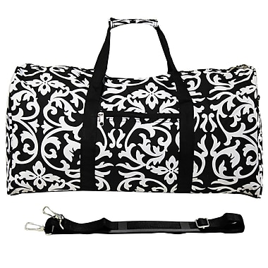 World Traveler Damask 22'' Lightweight Duffel; Black