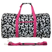 World Traveler Damask 22'' Lightweight Duffel; Pink