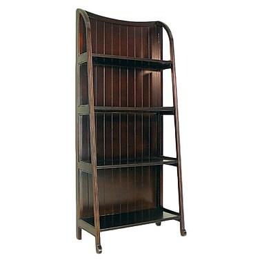 Wayborn 60'' Accent Shelves Bookcase; Brown