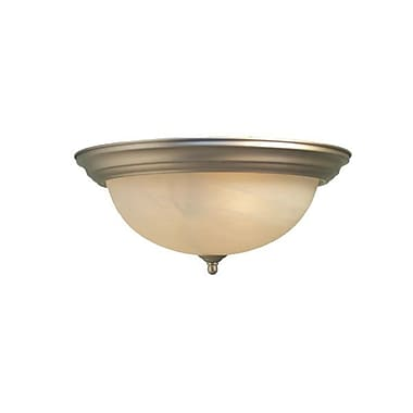 Woodbridge Anson 1-Light Flush Mount; Satin Nickel