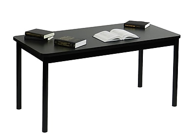 Correll 60'' Rectangular Training Table, Black Granite (LR2460-07)