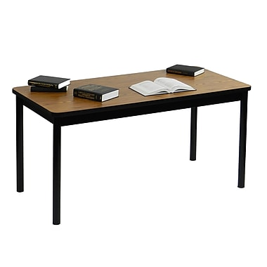 Correll 72'' Rectangular Training Table, Medium Oak (LR2472-06)