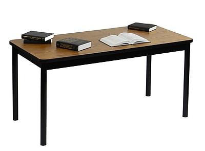 Correll 72'' Rectangular Training Table, Medium Oak (LR3672-06)