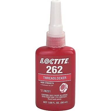 Threadlocker 262 High Strength, Aa453, 50ml, 2/Pack
