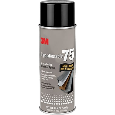 75 Repositionable Spray Adhesive, 3/Pack
