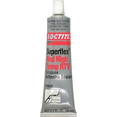 Superflex Red High Temp Rtv Silicone Adhesive Sealant, Ac166, 80ml, 12/Pack