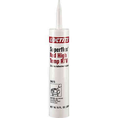 Superflex Red High Temp Rtv Silicone Adhesive Sealant, Ac167, 300ml, 4/Pack