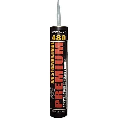 Nuflex480 Polyurethane Construction Adhesive, 6/Pack