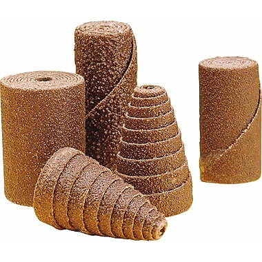 Cartridge Rolls, Full Taper, Aluminum Oxide, 100/Pack