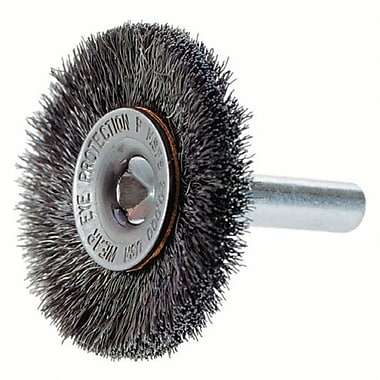 Crimped Wire Wheel Brush With 1/4