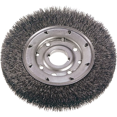 Crimped Wire Wheel Brushes, Medium Face, Wire Gauge, 0.0118, Bw996